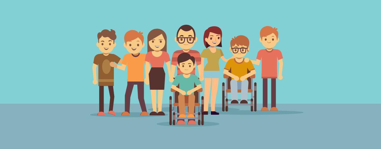 Niños y Niñas con discapacidad, como embajadores de la suerte!