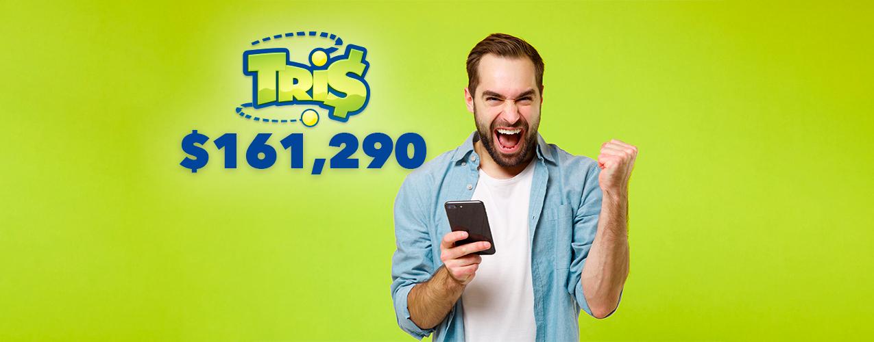 Gana $161,290 en el sorteo de Tris apostando con Directa 5