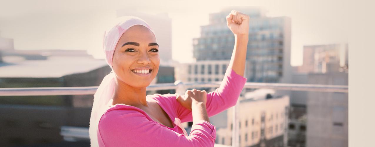 Una mujer supera el cáncer de mama y como regalo gana la